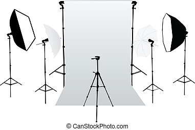 equipm, -, accessori, foto studio