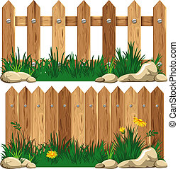 erba, recinto legno