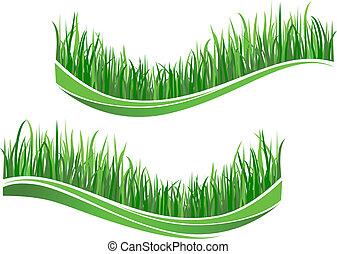 erba, verde, onde