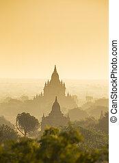 eredità, paesaggio, pagoda, mondo, myanmar., bagan, 4