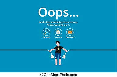 errore, pagina, oops
