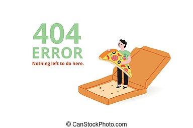 errore, pagina, pizza