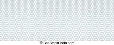 esagonale, bianco, rete