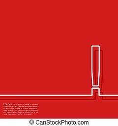 esclamazione, astratto, illustrazione, vettore, fondo, mark., rosso