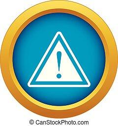 esclamazione, blu, attenzione, isolato, marchio, vettore, segno, avvertimento, icona