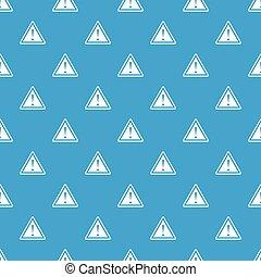 esclamazione, blu, modello, attenzione, seamless, marchio, simbolo di avvertenza