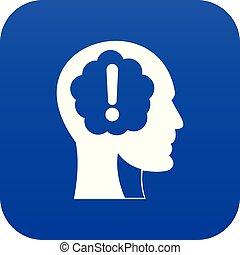 esclamazione, blu, testa, dentro, marchio, digitale, icona