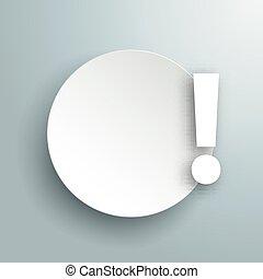esclamazione, grigio, cerchio, carta, punto