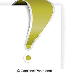 esclamazione, verde bianco, bordo, marchio