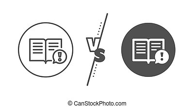 esclamazione, vettore, segno., icon., linea, fatti, marchio, interessante