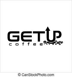 esclusivo, su, ottenere, logotipo, caffè