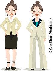 esecutivo, donna, asiatico