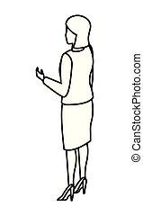 esecutivo, donna indietro, avatar