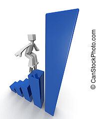 esecuzione, concetto finanziario, crescita