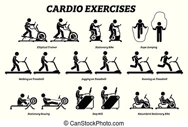 esercizi, gym., addestramento, cardio, idoneità