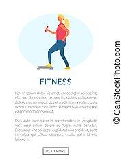 esercizio, webpage, vettore, idoneità, ragazza, sport