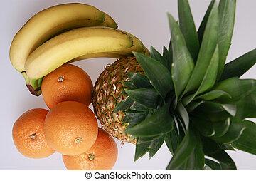 esotico, set, frutte