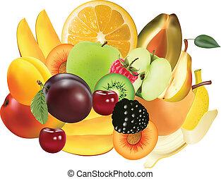 esotico, varietà, frutte