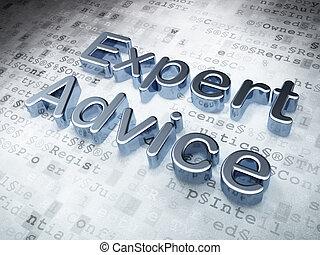esperto, consiglio, fondo, digitale, legge, argento, concept: