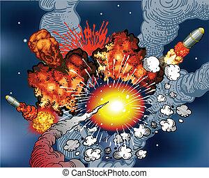 esplosioni, spazio
