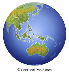 esposizione, asia, zelanda, polo, terra, australia, nuovo, sud