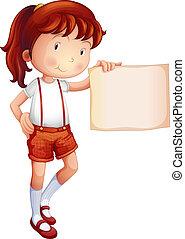 esposizione, carta, pezzo, bambino