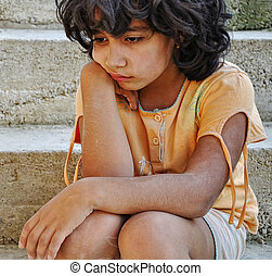 espressione, povertà, poorness, bambini