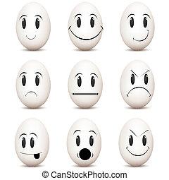 espressioni, vario, facciale