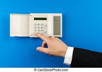 essendo, attivato, alarmsystem