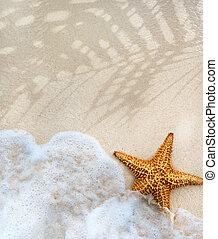 estate, astratto, spiaggia, fondo