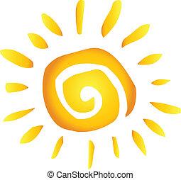 estate, caldo, astratto, sole
