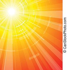 estate, caldo, sole