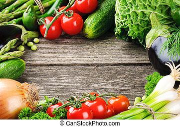 estate, cornice, organico, verdura, fresco