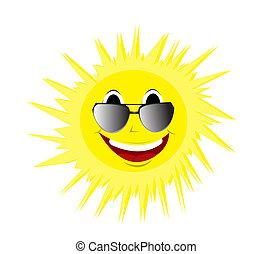 estate, felice, occhiali da sole, sole
