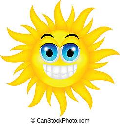 estate, felice, sole