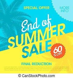 estate, fine, vendita