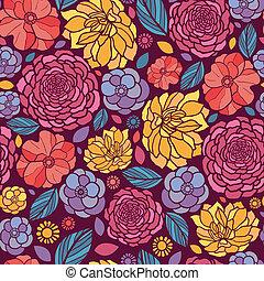 estate, fiori, seamless, motivi dello sfondo