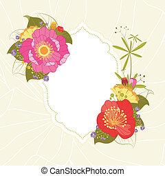 estate, giardino fiore, colorito, primavera, fondo, festa