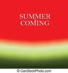 estate, illustrazione, fondo., vettore, anguria, ciao