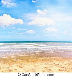 estate, mare, dorato, astratto, sabbia, fondo, spiaggia