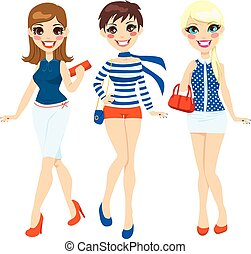 estate, moda, donne