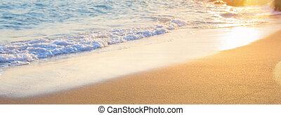 estate, onde, spiaggia, astratto, fondo, mare, sfocato