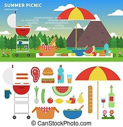 estate, picnic, montagne