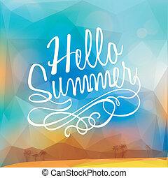 estate, poligono, manifesto, astratto, fondo, vacanza