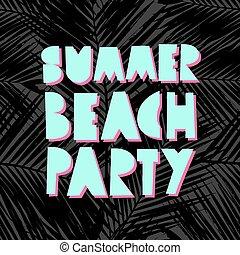 estate, spiaggia, disegno, festa
