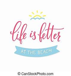 estate, spiaggia, tipografia, iscrizione