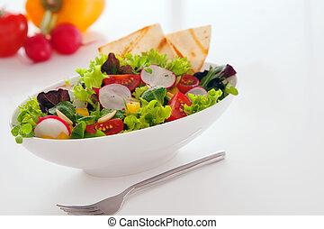estate, spuntino, deliciuos, insalata, fresco