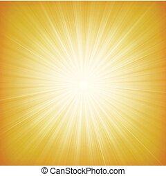 estate, starburst, fondo, sole