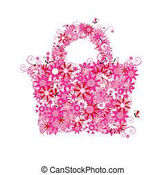 estate, stile, shopping, floreale, sale., anche, vedere, immagini, mio, galleria, borsa