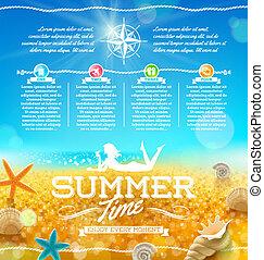 estate, viaggiare, disegno, vacanza